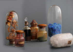 Collection of Dyes at the Silk Museum